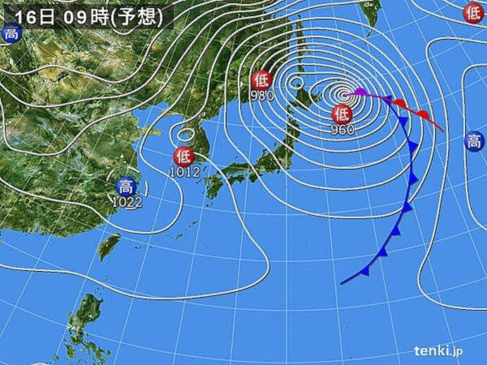 日本海側を中心に大荒れの恐れ
