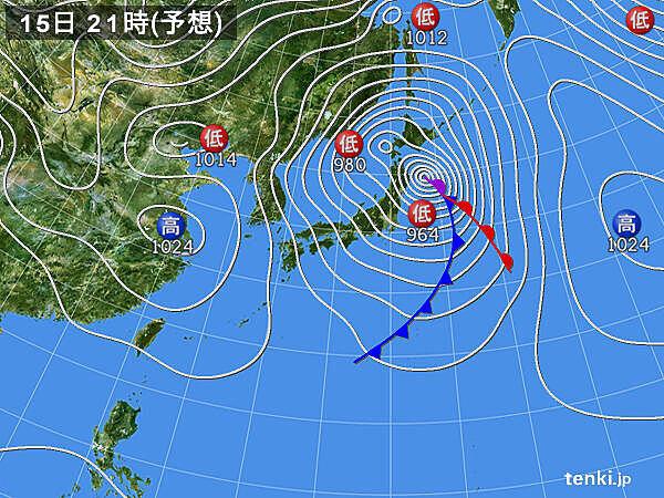 低気圧の雨雲が東へ進む 地震の揺れの大きかった地域 土砂災害の危険が高まる