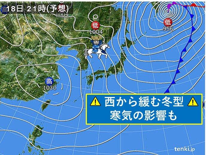 18日 北陸、東海、関東甲信 荒れた天気続く