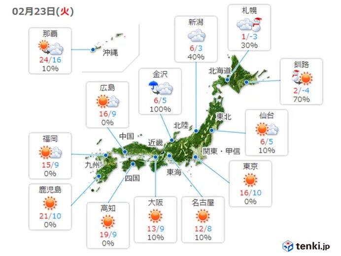 あすも 九州から東海は花粉が非常に多く飛ぶ予想