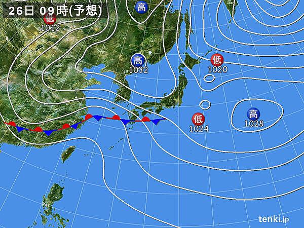 週の後半 九州から関東で雨 風が強まり 横なぐりの雨の所も