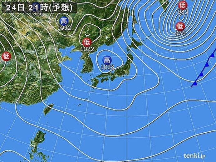 北海道・東北の日本海側 ふぶく所も