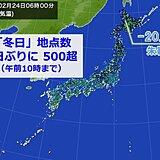 けさ全国500を超える地点で「冬日」 日中も寒さ厳しい