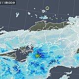 中国地方 冷たい雨や雪が降り寒い一日
