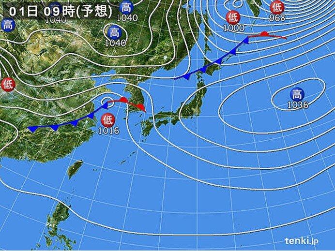 3月1日 雲が広がりやすく雨が降る所も 最高気温は4月下旬並みも