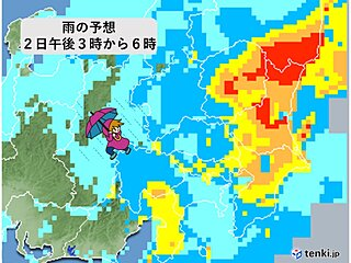 関東 午後は局地的な激しい雨・落雷・突風に注意 ピークは?