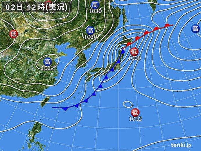 2日 北海道で日降雪量3月として1位も