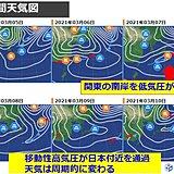 関東 晴れの天気は長続きせず スギ花粉は飛散のピーク続く