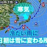 週末は雨 土曜は20℃になる所も急降下 日曜は関東南部の山沿いで雪か