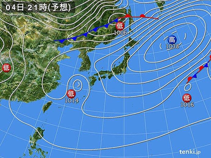 西から天気下り坂 西日本は雨具を用意
