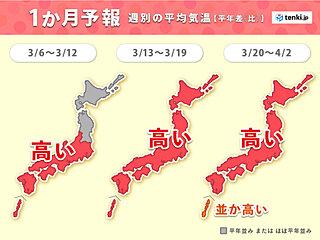 「春の訪れ」や「桜の開花」は早いが 寒の戻りに注意 1か月予報