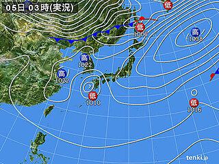 5日 雨雲が九州から関東へ 東北や北海道は日差しと南風で気温上昇