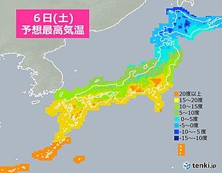 6日 関東以西は春本番 北陸以北は日本海側中心に寒さ戻る 真冬並みも