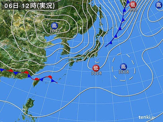 前線通過で気温降下 北海道ではきのうより20℃以上低い所も