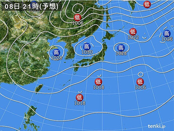 低気圧が東進 東海や関東を中心に雨