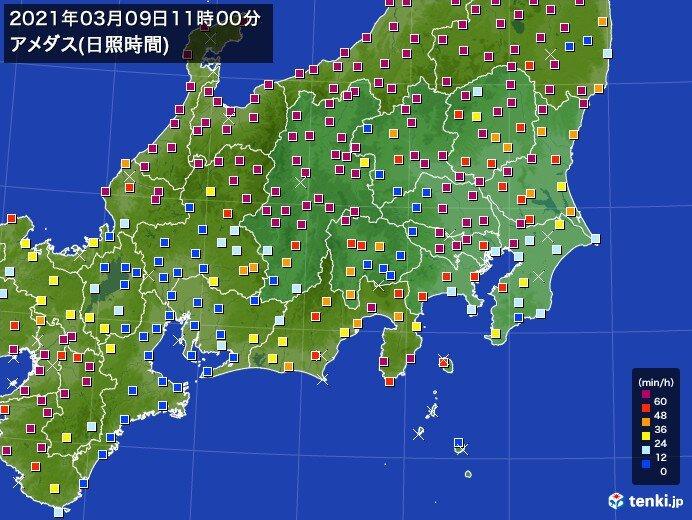 関東 日差しが戻り 真冬のような寒さは和らぐ