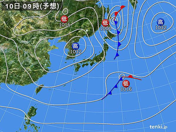 東北 10日未明から日本海側中心に雪や雨 日中晴れても風冷えに