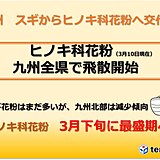 九州 各地でヒノキ科花粉が飛散開始