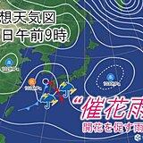 関東 あす12日午後から傘の出番