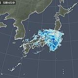 13日土曜日も  東海や関東、東北で激しい雨 強雨いつまで