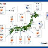 14日 北陸から北は雨や雪 関東から西は春の陽気 東京の桜開花も秒読み