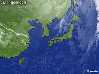 東日本大震災から7年 被災地に日差し