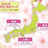 大阪など今年最も高い気温に 鳥取・大阪・熊谷で桜開花 統計史上1位も