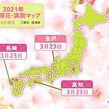 桜の開花進む 長崎、高知で満開 金沢でも開花 統計開始以来1位の早さも