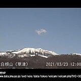 草津白根山(白根山の湯釜付近)の噴火警戒レベルを「1」に引き下げ