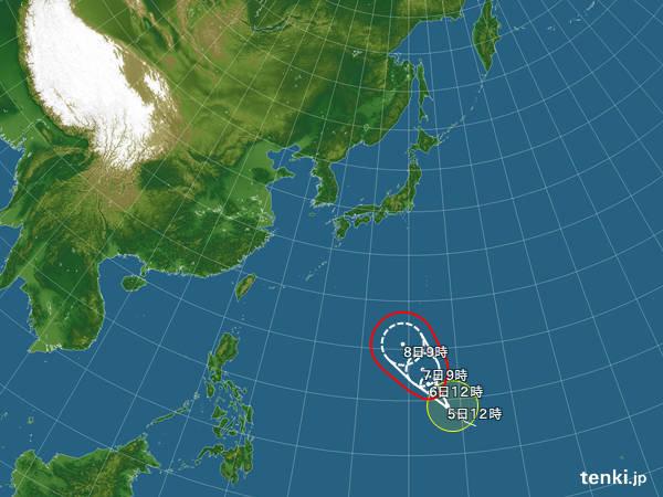 台風8号 非常に強い勢力へ 列島へ影響は
