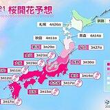 2021年桜開花予想 桜前線は27日に仙台へ 東京や福岡の見ごろは今週末まで