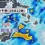 日曜日の関東 雨・風強まる あす未明が雨のピークに