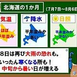 北海道の1か月 気温は下がって上がる