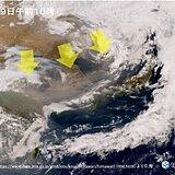 「黄砂」日本列島の広範囲に飛来か 広島や福岡などで観測 赤茶色の帯がかかり始める