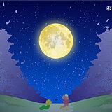 3月の満月は「ワームムーン」 今夜もほぼ満月 広く観測のチャンス