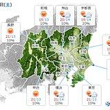 関東 土曜日は貴重な日差し 日曜日は3週連続で傘の出番