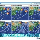 あす未明は東海で激しい雨 週末にかけて九州北部~関東も朝は10℃以下か
