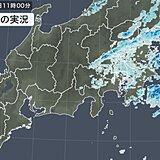 関東 所々に雨雲 気温低下で午前11時の気温13日ぶりに15℃未満 雨いつまで