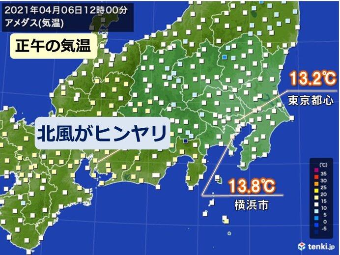 関東甲信 けさはヒンヤリ 昼間も北よりの風が冷たい 服装に注意を