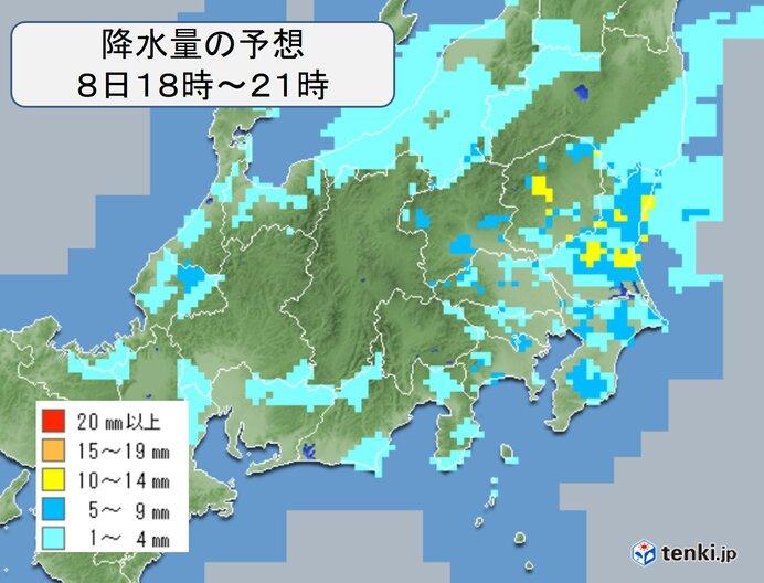 関東 晴れ間がでていても油断せず にわか雨や雷雨に注意