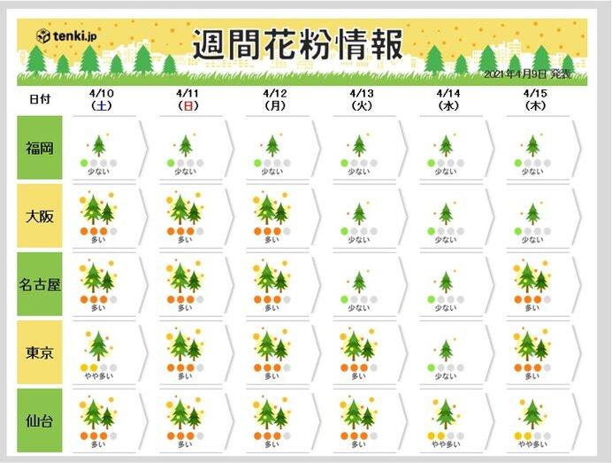 2021年の花粉シーズン出口はいつ? ヒノキ花粉の飛散もいよいよ終盤に