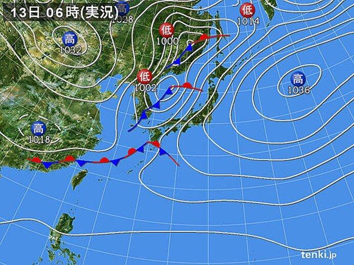 南よりの風強まる 鳥取空港では瞬間的に30メートル以上