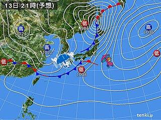 関西 きょう13日 夕方以降は激しい雨が降る恐れ