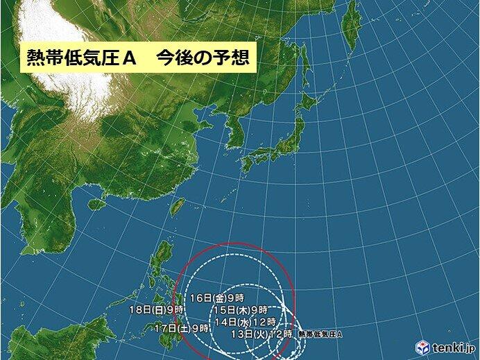 あすには台風2号発生か 今後の動きに注意