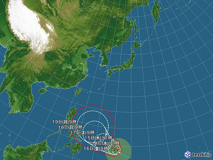 台風2号 発達しながら今後北上へ