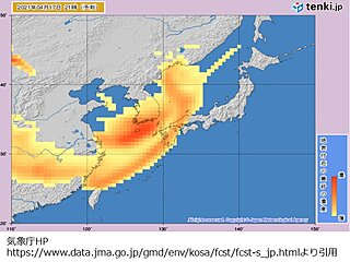中国地方 あす16日(金)夜は傘の出番 17日(土)雨の後は黄砂再来か