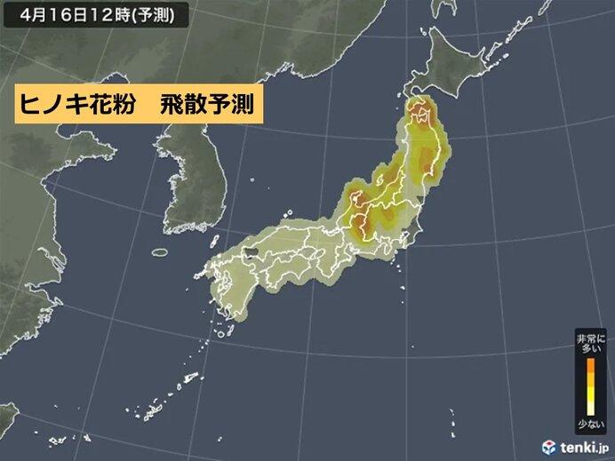 あす 東海や関東、東北など「多く」飛ぶ所も