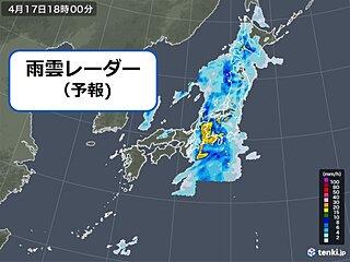 17日土曜の天気 太平洋側で「滝のような雨」が降り大雨のおそれ 「黄砂」にも注意