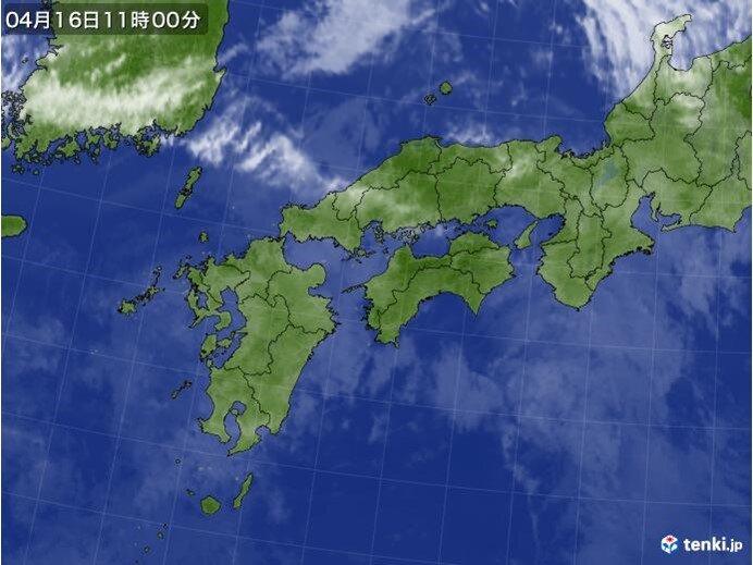 中国地方 今日(16日)は天気下り坂