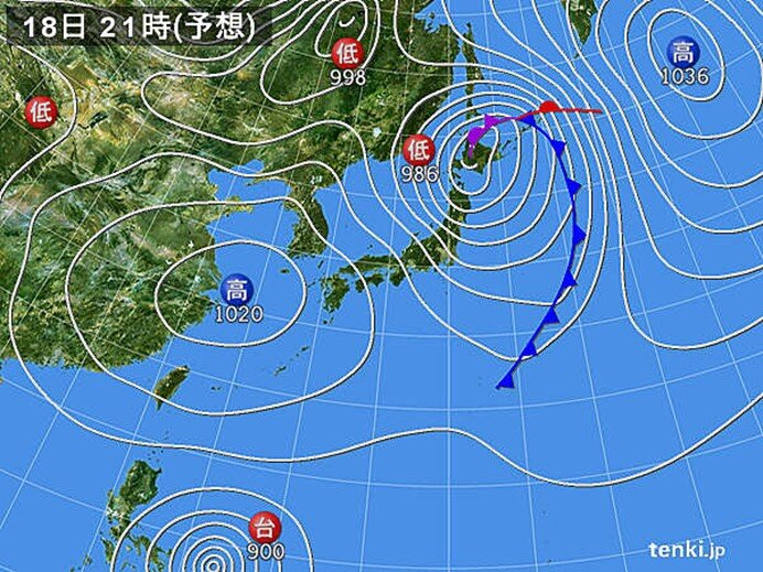 北海道・東北・北陸は荒れた天気に